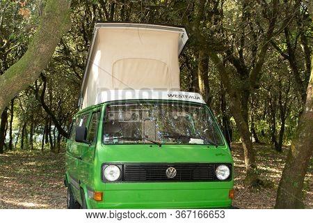 Bordeaux , Aquitaine / France - 11 18 2019 : Volkswagen Camper Motorhome Van Fourgon Combi Camper Vi