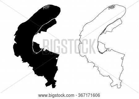 Hauts-de-seine Department (france, French Republic, Ile-de-france Region) Map Vector Illustration, S