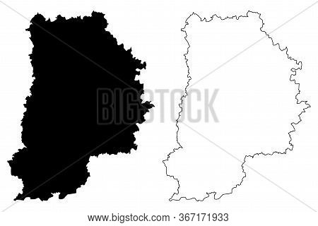 Seine-et-marne Department (france, French Republic, Ile-de-france Region) Map Vector Illustration, S