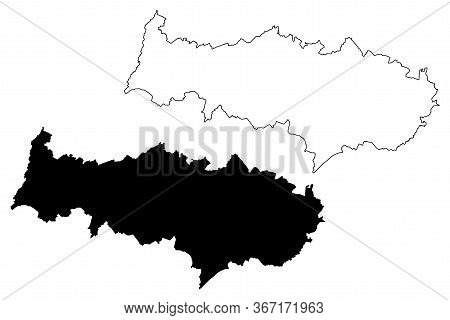 Val-d'oise Department (france, French Republic, Ile-de-france Region) Map Vector Illustration, Scrib