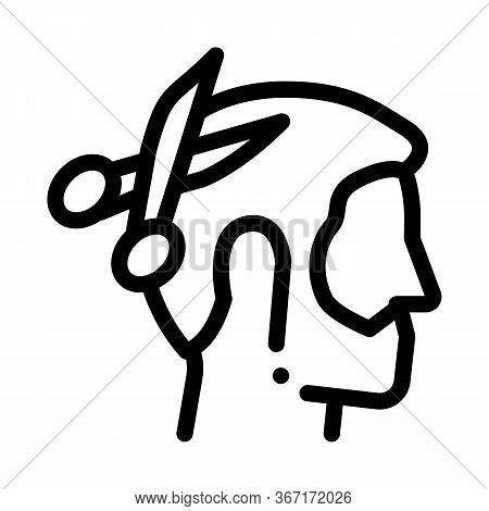Muslim Man Haircut Icon Vector. Muslim Man Haircut Sign. Isolated Contour Symbol Illustration