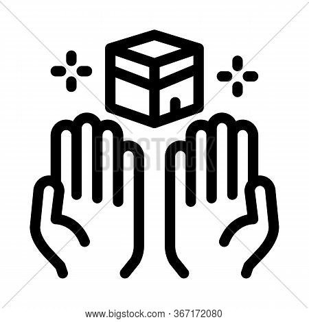 Desire For Glorified Icon Vector. Desire For Glorified Sign. Isolated Contour Symbol Illustration