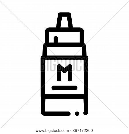 Squeezes Bottle Of Mayonnaise Sauce Icon Vector. Squeezes Bottle Of Mayonnaise Sauce Sign. Isolated