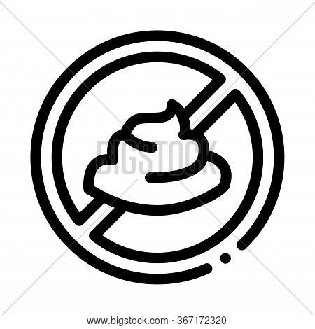 Mayonnaise Ban Icon Vector. Mayonnaise Ban Sign. Isolated Contour Symbol Illustration