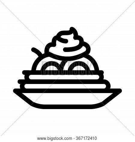 Mayonnaise Seasoning Food Plate Icon Vector. Mayonnaise Seasoning Food Plate Sign. Isolated Contour