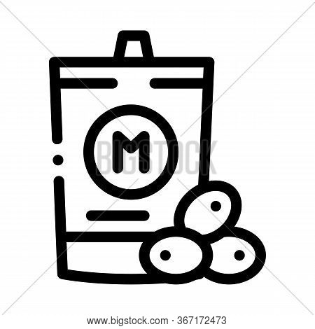 Packaged Mayonnaise Icon Vector. Packaged Mayonnaise Sign. Isolated Contour Symbol Illustration