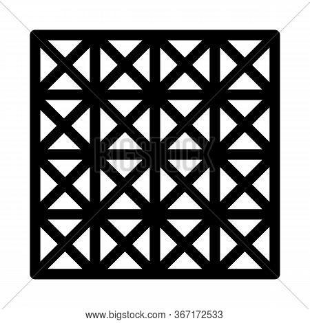 Three D Floor Tiles Icon Vector. Three D Floor Tiles Sign. Isolated Contour Symbol Illustration