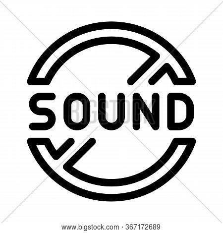 Sound Ban Icon Vector. Sound Ban Sign. Isolated Contour Symbol Illustration