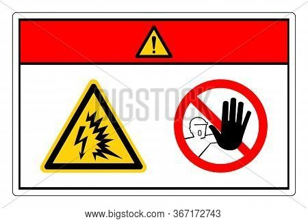 Danger Arc Flash And Shock Hazard Symbol Sign, Vector Illustration, Isolate On White Background Labe