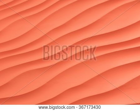 Red Or Lush Lava Fabric Background With Copy Space For Text Or I
