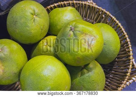 Green-yellow Ripe Pomelo, Grapefruit.