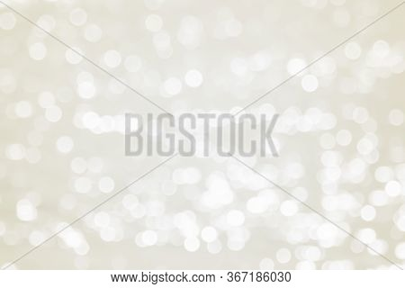 Soft Blurred De-focused Shiny White Sparkling Glittering Bokeh Abstract Background