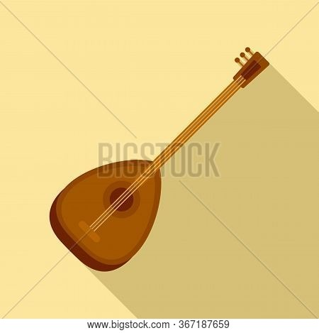 Turkish Saz Icon. Flat Illustration Of Turkish Saz Vector Icon For Web Design