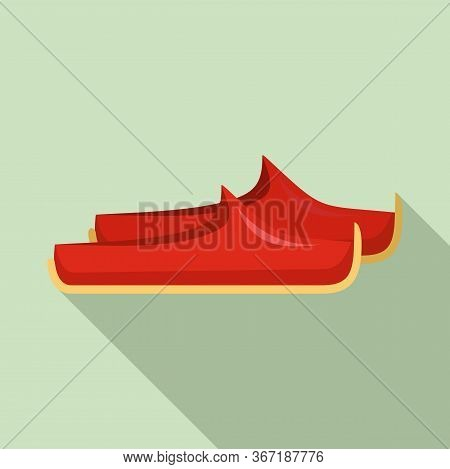 Turkish Shoes Icon. Flat Illustration Of Turkish Shoes Vector Icon For Web Design