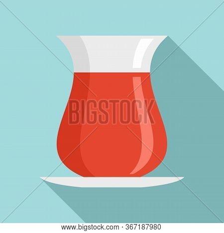 Turkish Tea Icon. Flat Illustration Of Turkish Tea Vector Icon For Web Design