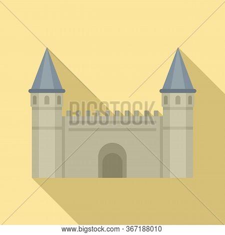 Turkish Citadel Icon. Flat Illustration Of Turkish Citadel Vector Icon For Web Design