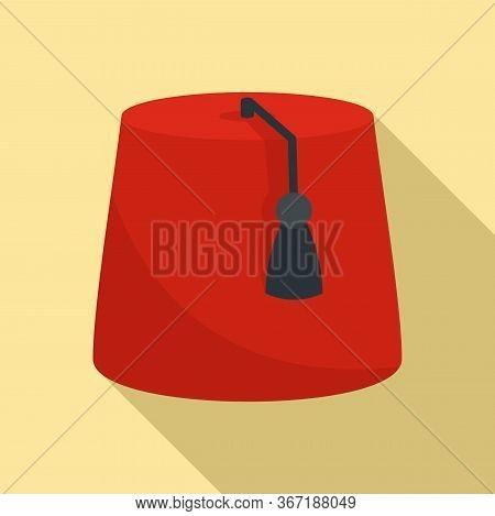 Turkish Hat Icon. Flat Illustration Of Turkish Hat Vector Icon For Web Design