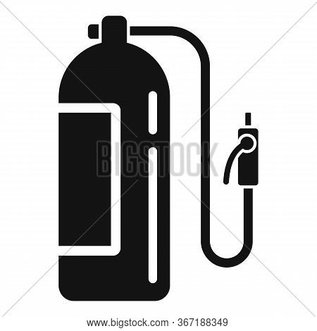 Gas Balloon Cylinder Icon. Simple Illustration Of Gas Balloon Cylinder Vector Icon For Web Design Is
