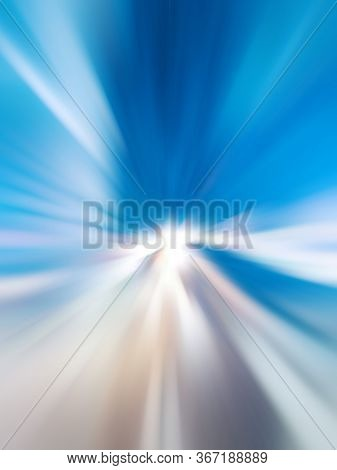 Abstract artwork made with blurred urban lights and shadows