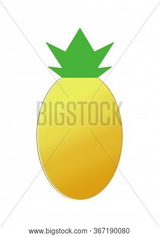 Pineapple Icon. World Pineapple Day. Doodle Pineapple. Yellow Fruit. Summer.