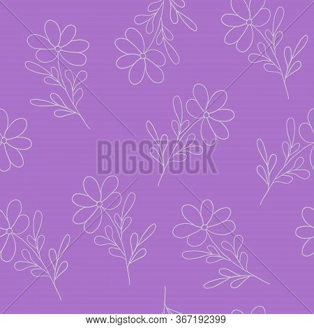 Repeat Pattern Of Hand Drawn Simple Vector Illustration For Holiday Celebration Design, White Outlin