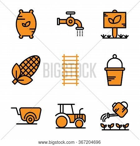 Agriculture Icon Set Including Compound,seed,fertilizer,flush,water,pipe,garden,tree,leaf,corn,agric
