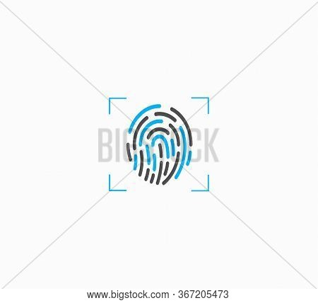 Fingerprint Scanning, Identification And Security Vector Illustration Isolated