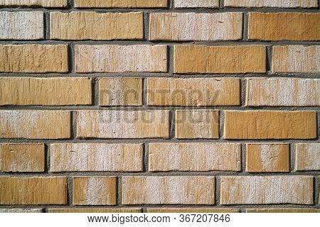 Masonry Facade Of A House Made Of Bricks