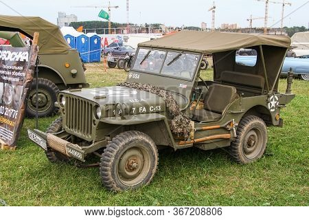 Moscow, Russia - July 6, 2012: American Offroad Military Car Willys Mb Presented At The Annual Motor