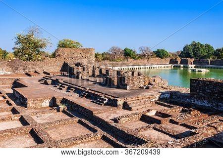 Royal Enclave Ruins In Mandu Ancient City In Madhya Pradesh State Of India