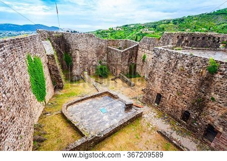 Fortress Ruins In The Stari Grad Bar Or Bar Old Town, A Small Town In Montenegro