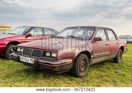 Moscow, Russia - July 6, 2012: Retro Car Pontiac 600 Presented At The Annual Motorshow Autoexotica.