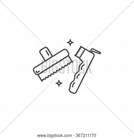 An Icon Of Brush Hoof Pick Tools For Grooming Hors
