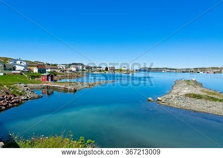 Picture Of Small Fishing Village In Newfoundland Canada