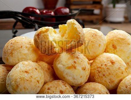 Brazilian snack cheese bread, pao de queijo