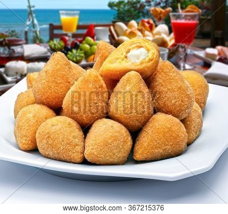 Coxinha of chicken, Brazilian snack food