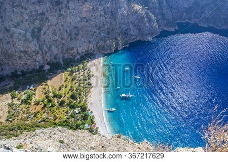The Butterfly Valley (kelebekler Vadisi) In The City Of Oludeniz/fethiye In Western Turkey. You Can
