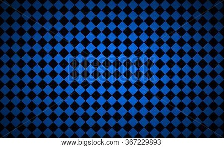 Abstract Background With Black And Blue Squres. Modern Vector Mosaic Pattern. Simple Illustration