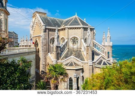 Church Of Saint Eugenie Or Eglise Sainte-eugenie Is A Catholic Church In Biarritz City In France