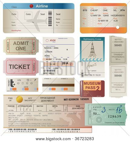 World traveller tickets collection