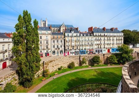 Nantes Aerial Panoramic View. Nantes Is A City In Loire-atlantique Region In France.