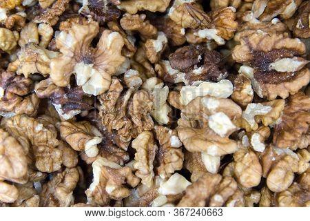 Unpeeled Walnuts. Background Of Fresh Walnuts. Healthly Food