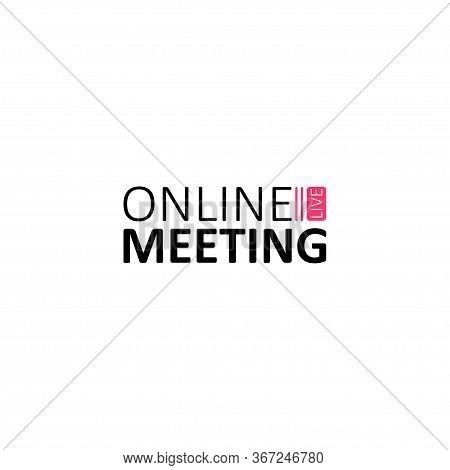 Online Webinar Landing Page. Webinar, Webinars And Web Meetings At The Level Of Colleagues, Modern E