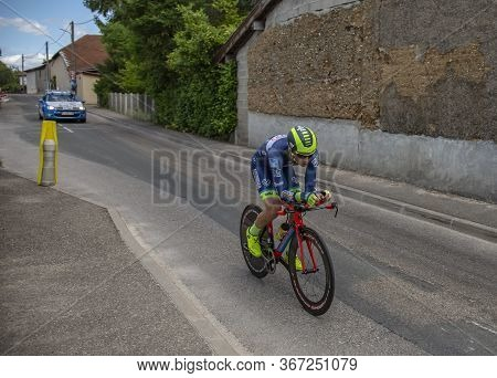 Bourgoin-jallieu, France - 07, May, 2017: The New Zealand Cyclist Dion Smith Of Wanty-groupe Gobert