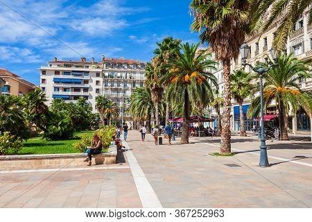 Toulon, France - September 24, 2018: Freedom Square Or Place De La Liberte In The Centre Of Toulon C