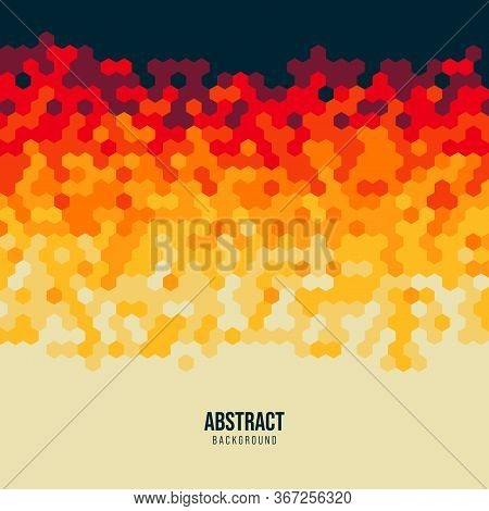 Abstract Hexagon Geometric Shape Pattern Background Modern Art Style. Graphic Design Element Can Be