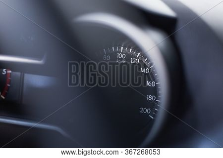 Car Dashboard Auto Digital Fast Speed Meter Number Kilometer Km For Control Driving Console Indicato