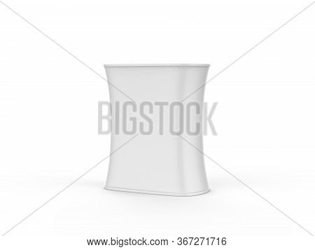 Portable exhibition booth triangular promotion table display, tradeshow advertising podium counter w