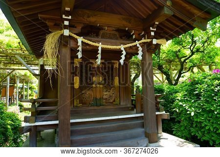 Tokyo / Japan - May 05, 2019: Kameido Tenjin Shrine, In The Small Eastern Tokyo District, Is A Parti
