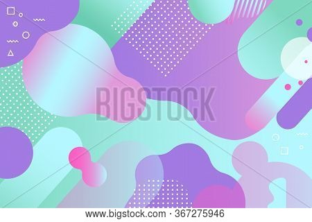 Abstract Modern Background. Creative Liquid Design Of Backdrop With Gradient Colors. Trendy Pop Art